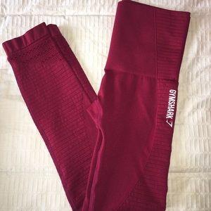 Gymshark Pants - Gymshark maroon seamless legging